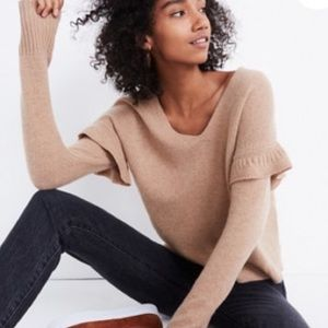 Madewell ruffle stitch play pullover